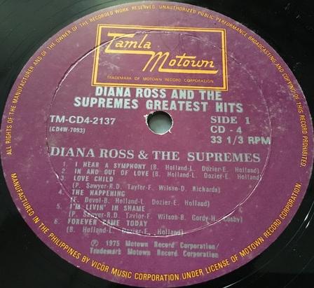 Diana Ross & The Supremes -Greatest Hits. Tamla Motown TM-CD4-2137 (CD4) [Philippines]c.jpg