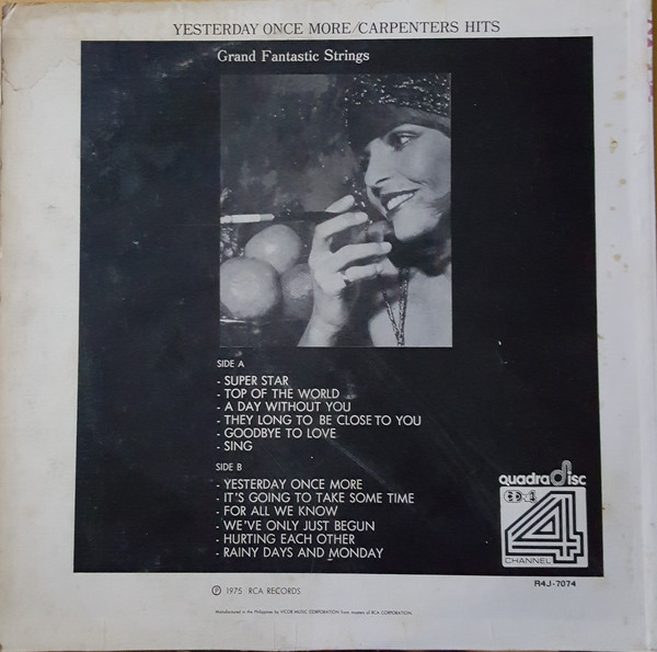 GRAND FANTASTIC STRINGS -Carpenters Sound-Yesterday Once More. RCA R4J-7074 (CD4) [Philippines]b.jpg