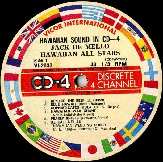 JACK DE MELLO HAWAIIAN ALL STARS -Hawaiian Sound In CD4. Vicor International VI-2033 (CD4) [Ph...jpg