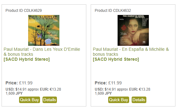 New Paul Mauriat SACDs from DV - Aug 2019.png