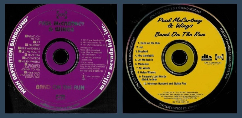 Band on the Run DTS CD Discs