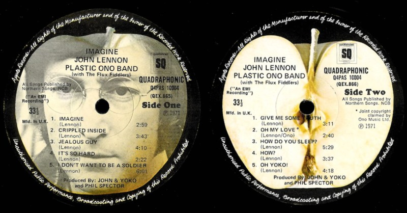Imagine UK LP Labels