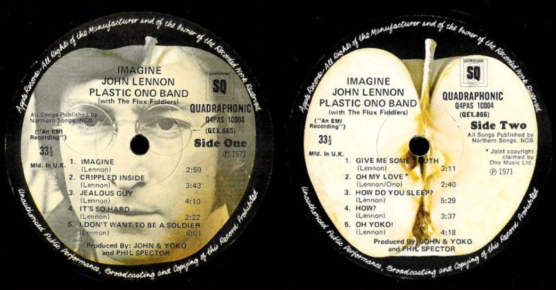 Imagine UK LP Labels